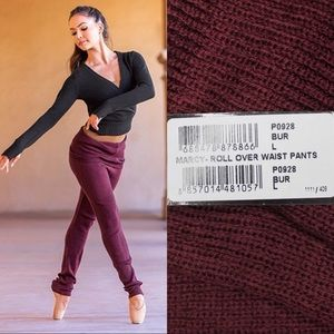 Bloch Dance Knit Pants with Roll-Over Waist L XL